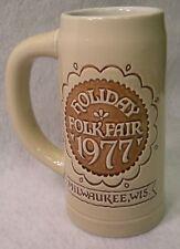 Milwaukee Wisconsin Beer Mug 1977 Holiday Folk Fair Dutch Indonesian Stoneware