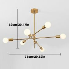 Sputnik Chandelier Ceiling Light Pendant Lighting Fixture Lamp 6 Lights Gold