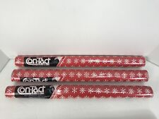 3 Rolls 9 sq ft each Contact Paper vintage 1985 NIP Red White Snowflakes