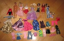 Mixed Lot Barbie Dolls & Ken Doll Lots of Clothing