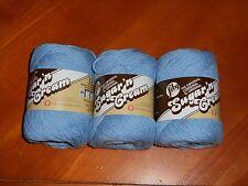 Lily Sugar'n Cream Yarn Lot Of 3 Skeins (Light Blue #00026) 2.5 oz.