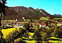 Luftkurort Inzell , Blick vom Kurpark zum Rauschberg ; Ansichtskarte 1983 gel.