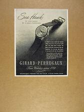 1947 Girard-Perregaux Sea Hawk seahawk watch vintage print Ad