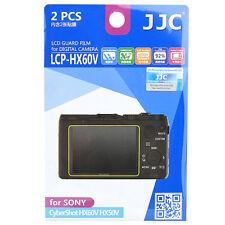 2x Film LCD Screen Display H3 Hard Protection for Sony CyberShot HX50V HX60V