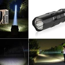 3W SUPER BRIGHT LED FLASHLIGHT FOCUS TORCH MINI LIGHT CLIP CLAM LAMP