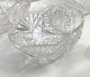 Vintage Cut Lead Crystal Bowl