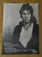 BRUCE SPRINGSTEEN DARKNESS ON THE EDGE OF TOWN FULL PAGE MAG ADVERT 1978 POSTER