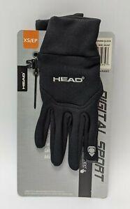 Head Uni Running Glove Sensatec Digital Sport Unisex Size X Small Black 643472