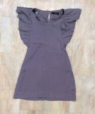 Dorothy Perkins Short Sleeve Silky Feel Long Top Ruffle Statement Sleeves Size 8