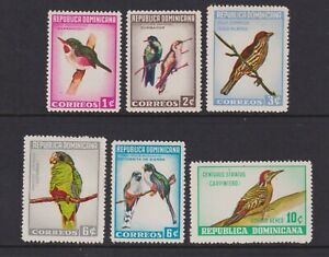 Dominican Republic - 1964, dominican Birds set - MNH - SG 927/32