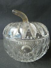 Ancien moutardier en verre cristal ? de pomme art de la table french antique