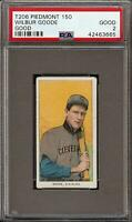 1909-11 T206 Wilbur Goode Good Piedmont 150 Cleveland PSA 2 Good