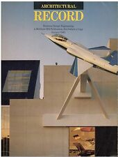 rivista - THE ARCHITECTURAL RECORD ANNO 1985 GENNAIO