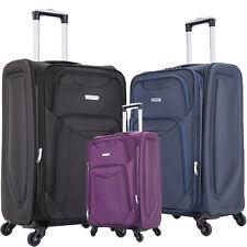 Large Suitcase & Medium Cabin 4 wheel Luggage Travel Cases Lightweight Soft Big