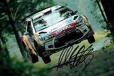 Mads OSTBERG WRC Rally DRIVER SIGNED AUTOGRAPH 12x8 Photo AFTAL COA