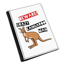 Beware LOCAS CANGURO Man Funda de pasaporte Funda Cartera - AUSTRALIA animal