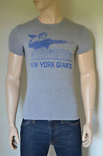 NEW Abercrombie & Fitch NFL New York Giants Graphic Vintage Tee T-Shirt Grey S