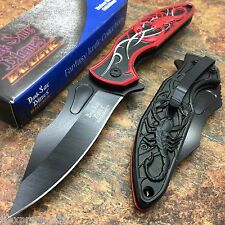 DARK SIDE BLADES Red Scorpion Rescue Hunting Camping Pocket Knife DS-A048BR