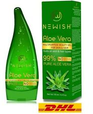 Pure Aloe Vera Gel for Face Glow, Hair Growth & Skin Moisturizer for Women & Men