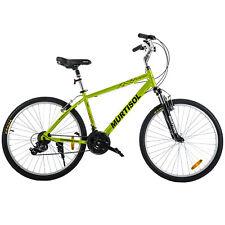 "26"" Aluminum Road Cruiser Bike 21 Speeds Shimano Bicycle Front Suspension Yellow"