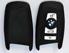 BMW Key Fob Cover in black silicone with logo for BMW series 1.3.5.7 X3 X5.