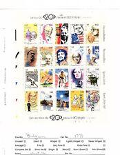 Belgium 1779 stamp sheet MNH Famous People,  Kennedy, Lenin, Gandhi, Sports (mb6