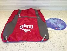 SMU Southern Methodist University Mustangs Drawstring Bag & Mouse Pad - NEW
