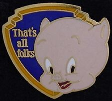 Porky Pig Pin ~ That's All Folks ~ older '80's vintage ~ by Pinnacle Designs