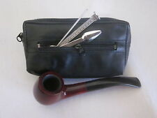 Combo Pipe Tobacco Pouch with Separate Compartment for Accessories