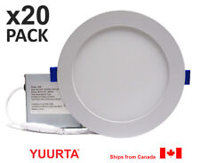 """YUURTA (20-pack) 6"""" 12W Dimmable Recessed Ceiling Slim LED Downlight (Pot Light)"""