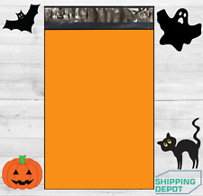 19x24 Pumpkin Orange Poly Mailers Bag Self Sealing Shipping Envelopes Halloween