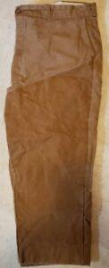 Vintage RedHead Bone Dry Waxed Canvas Hunting Pants 44 x 30  Tan Khaki