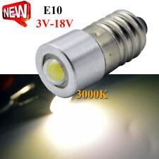 2 x E10 1W Led Flashlight Replacement Bulb Torch Light Warm White 3V/4.5V/6V/12V