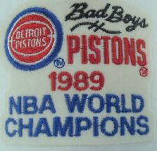 Detroit Pistons 1989 NBA World Champions White Snapback Hat Speedway