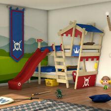"WICKEY Etagenbett Kinderbett ""CrAzY Castle"" - Hochbett aus Massivholz - 90x200cm"