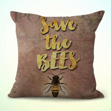 US Seller-save the bees bumblebee cushion cover wholesale pillow covers
