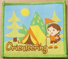 Orienteering badge Scout Girlguides camp camping blanket patch patches badges