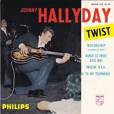 CD EP JOHNNY HALLYDAY  WAP-DOU-WAP  ** TWISTIN' U.S.A  **  SI TU ME TELEPHONES
