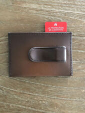 TUMI Nassau Money Clip Leather Card Case New