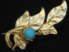 Gold Plated Glass Vintage Costume Brooches/Pins (Unknown Period)
