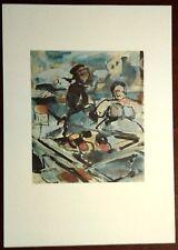 Stampa GEORGES ROUAULT Vecchio sobborgo fruttivendoli Grafica Arte Ed. Seat 1988