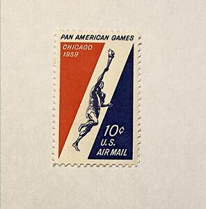 SC# C56 10c Pan-American Games Airmail Single Stamp MNH OG FREE SHIP