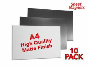 10 PACK | A4 Sheet Magnets | MATTE | Magnetic Paper Poster | Rack Shelve Label