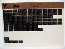 Yamaha FJ1200 1986 FJ1200S FJ1200SC Parts List Manual Microfiche n78