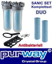 "DP DUO Sanic Set 3/4"" OT SANIC DOPPEL-Filtergehäuse inkl. Filter Antibakteriell"
