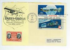 Darius Girenas Apollo Soyuz 1975 SC 1569-70, 79 FDC Both flights July 15