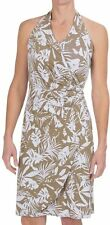 TOMMY BAHAMA Beige White Linstead Leaves Halter Knit Dress Small S NWT $138