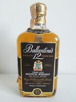 Ballantines 12 years old, very old  Scotch Whisky  , 70cl. bottiglia anni 80