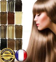 EXTENSIONS DE CHEVEUX A CLIPS 100% NATURELS REMY HAIR 46-60CM COULEURS AUX CHOIX