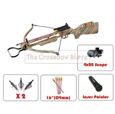 150lbs Wood Camo Hunting Crossbow Package Cross Bows